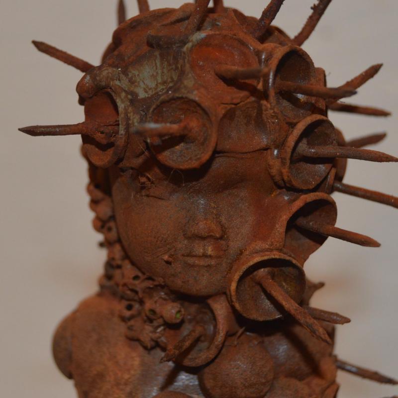 Carre detail tete statuette centaure